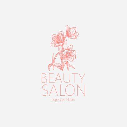 Beauty Salon Logo Maker with Flower Icon 1137f