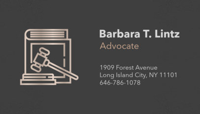 Law Office Business Card Maker 87c