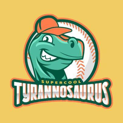 Baseball Logo Maker with Dinosaur Clipart 172d