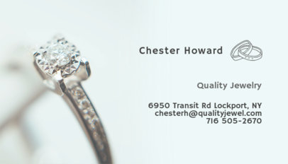 Business Card Template for a Jewelry Store 219c