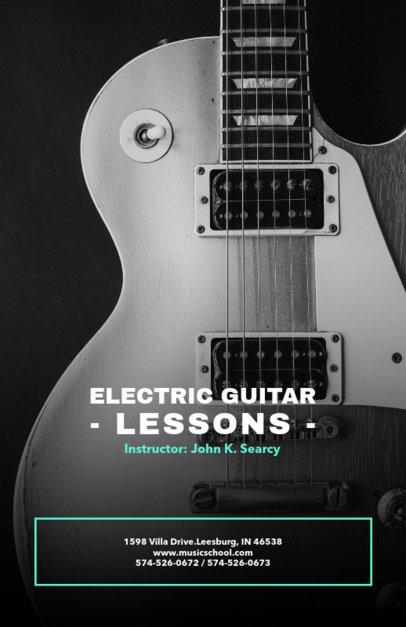 Electric Guitar Lessons Online Flyer Maker 157d