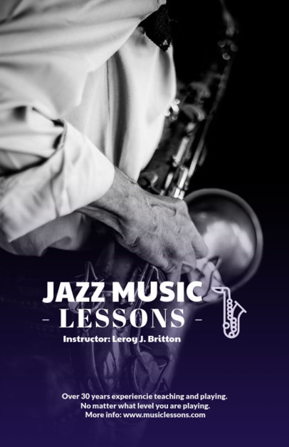 Jazz Music Lessons Online Flyer Maker 157e