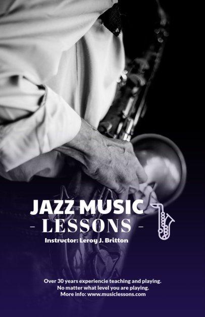 Jazz Music Lessons Online Flyer Maker 157e