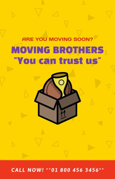 Flyer Maker for Movers with Box Graphics 204b