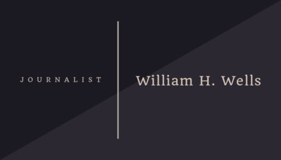 Business Card Maker for a Journalist with Minimalist Style 221e