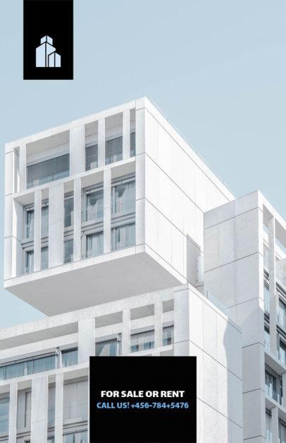 Real Estate Flyer Template Minimalist Theme 206b