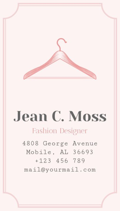 Online Business Card Maker for Fashion Designer 180b