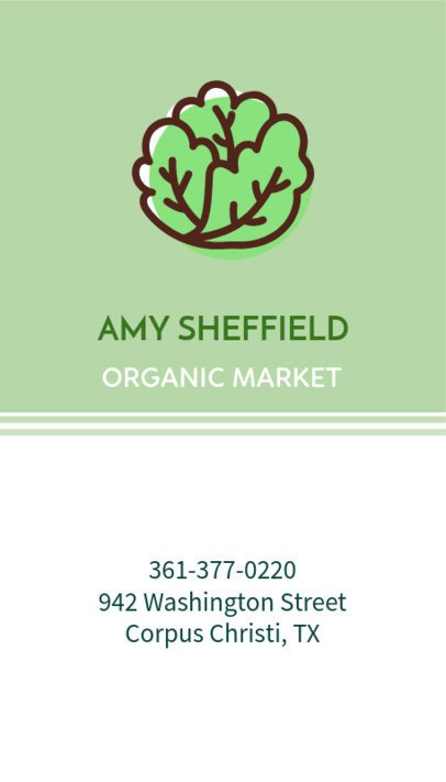 Organic Market Business Card Maker 215a
