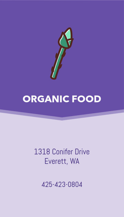 Organic Food Business Card Maker 215c