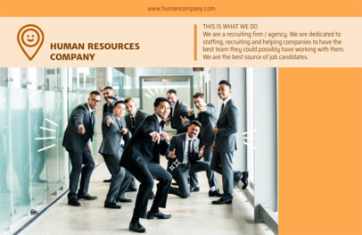 Online Flyer Maker for Human Resources Orange Theme 229e