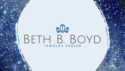 Professional Business Card Template for Jewelry Designers 224a