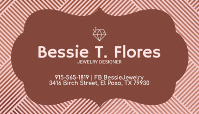 Customizable Business Card Maker for Jewelers 224c-1819