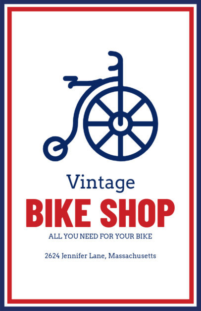 Bike Shop Flyer Maker with a Vintage Icon 214b