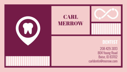 Dentist Business Card Maker 47b