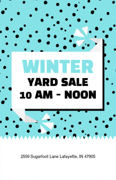 Online Flyer Maker for a Winter Yard Sale 104b