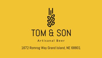Business Card Maker for an Artisinal Beer 239a