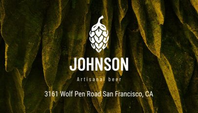 Online Business Card Maker for a Craft Brewery 239e