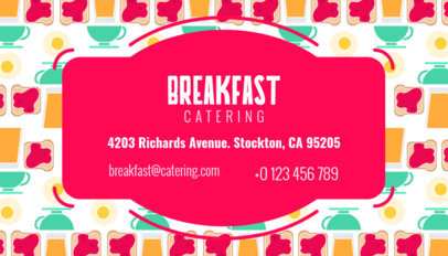 Breakfast Business Card Maker 143b