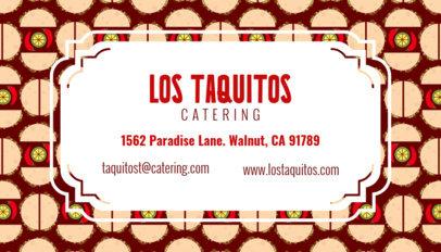 Tacos Business Card Maker 143c