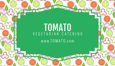 Vegetarian Business Card Maker 143d