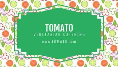 Vegetarian Business Card Maker 143d