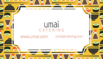 Sushi Business Card Maker 143e