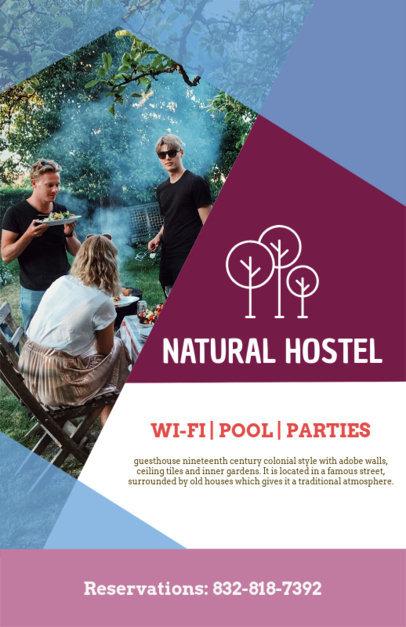 Online Flyer Maker for a Hostel 216a