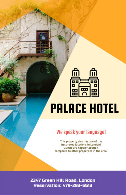 Online Flyer Maker for a Hotel with Hotel Icon 216d