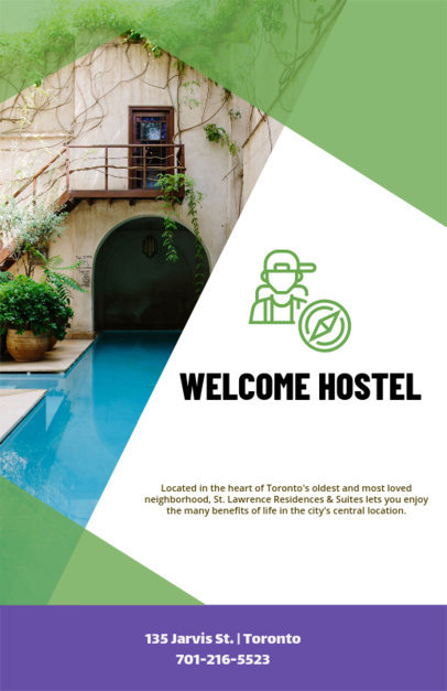 Flyer Maker Template for a Youth Hostel 216e