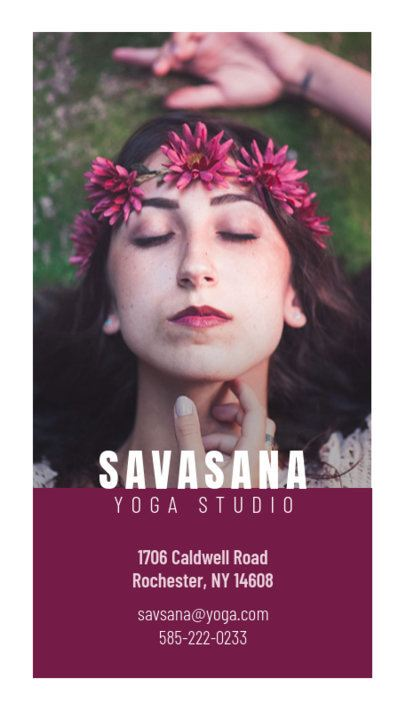 146a Yoga Studio Vertical Business Card Maker