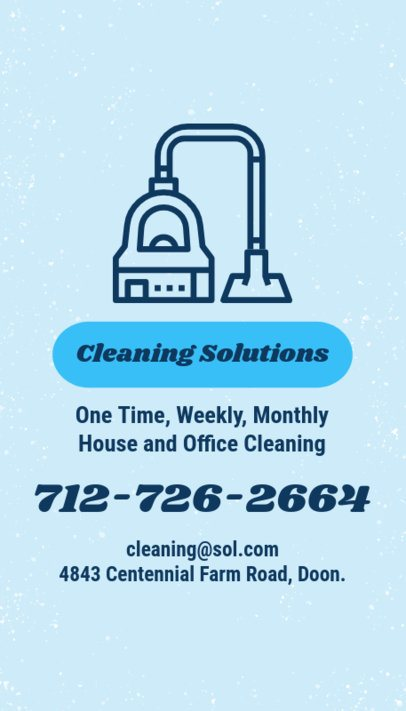 Cleaning Business Card Maker 164d