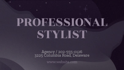 Onlines Business Card Maker for Professional Stylists 262c