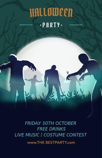 Halloween Online Flyer Maker 121a