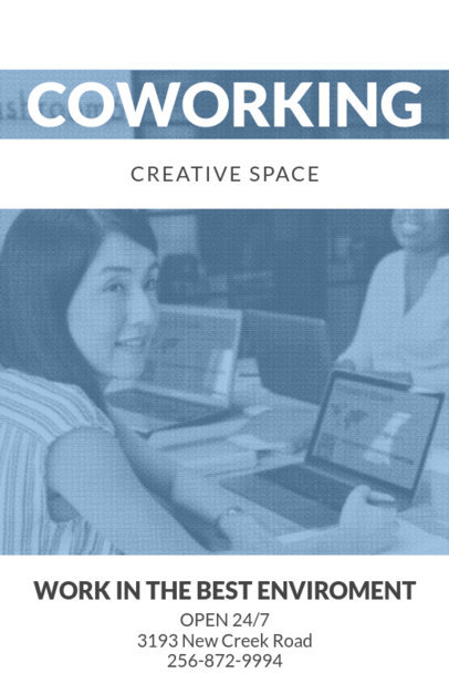 Online Flyer Maker for a Coworking Space 259b