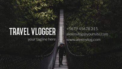Vlogger Business Card Maker 264c-1819