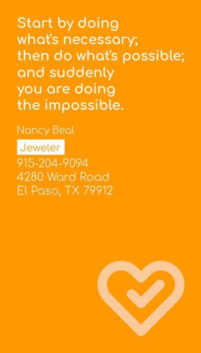 Minimal Business Card Maker for Jewelry Designer 237a