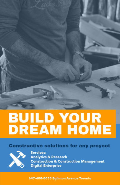 Placeit Professional Flyer Template For Preconstruction Services