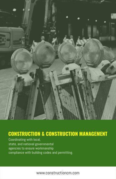 Construction Management Flyer Template 240b