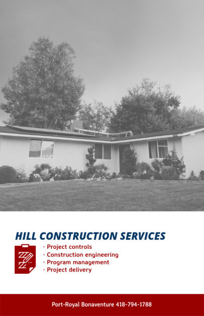Construction Services Flyer Template with Photographs 240e