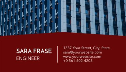 Engineering Business Card Maker with Customizable Background 241d