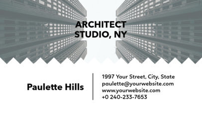 Architect Studio Business Card Template with Customizable Background 241f