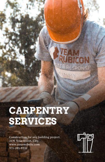 Carpentry Online Flyer Maker 245d