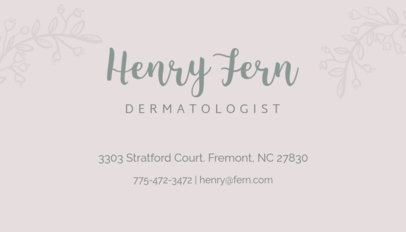 Spa Dermatologist Business Card Maker 203c