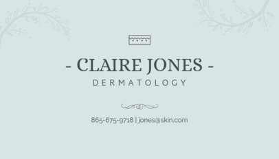 Business Card Maker for Dermatologists 203d