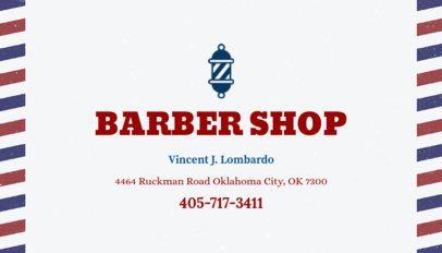 Business Card Maker for Barber Shop 103a-1903