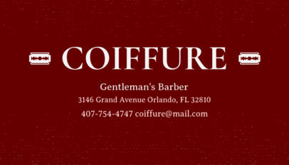 Online Business Card Maker for Gentlemens Barber 103b