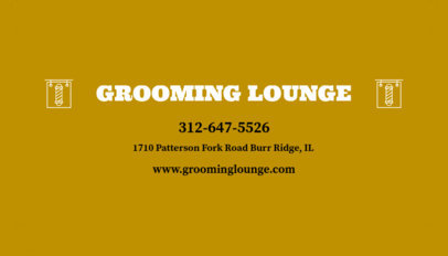 Online Business Card Maker for Grooming Barber Shop 103e