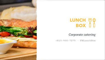 Business Card Maker for Lunch Businesses 107e