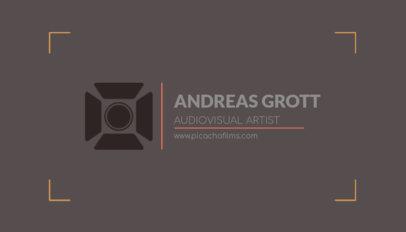 Business Card Template for an Audiovisual Artist 217d