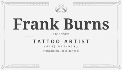 Business Card Maker for Tattoo Parlor with Illustrations 111e